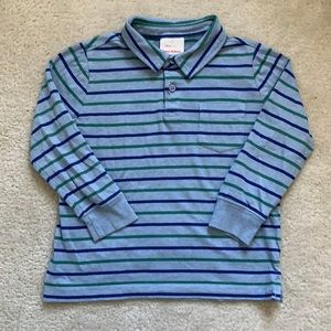 Hanna andersson striped long sleeve polo